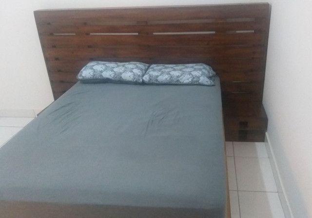 Base cama casal e cabeceira rústica  - Foto 3