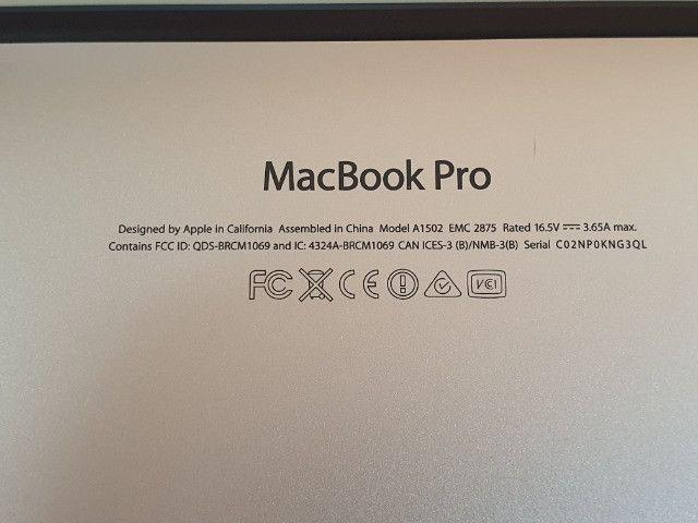 """MacBook Pro Retina 13"""" Core i7 Ram 8GB Ssd 500GB Modelo A1502 + Acessórios Originais Apple - Foto 4"""