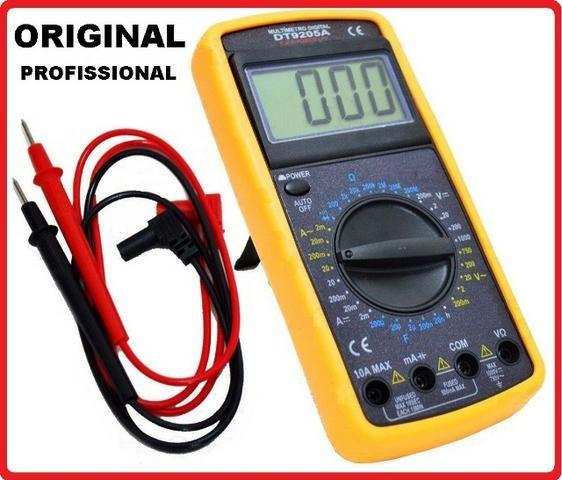 Multímetro e Capacímetro DT-9205A (eletrônica - ar condicionado)