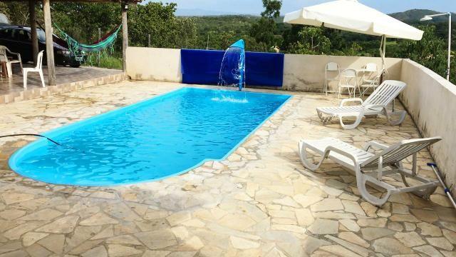 Casa com piscina em s.José de Almeida. 350 a diária do fim de semana comum - Foto 4