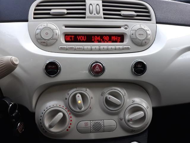 Fiat 500 Perola!! Financio Sem Ent. nao ka c3 onix 208 kwid up hb20 cooper mobi uno gol - Foto 13