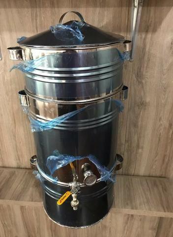 Panela para suco de uva 20kg toda em inox (nova) - Foto 2