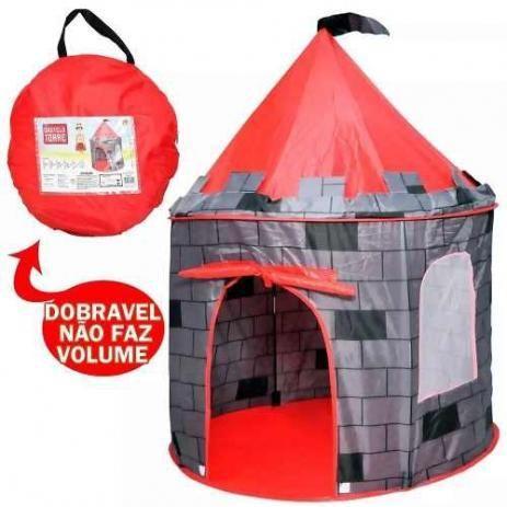 Barraca Toca Infantil Castelo Torre Dobravel Brinquedo