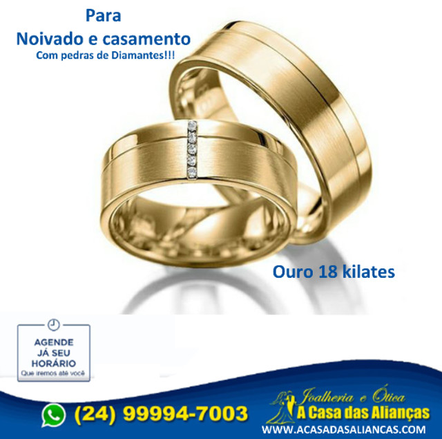 Lindas Alianças ouro 18k _24_ * - Foto 2