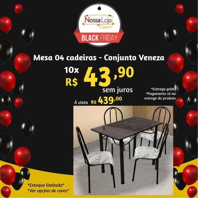 Mesa tubular 4 cadeiras - Araguari - Foto 2