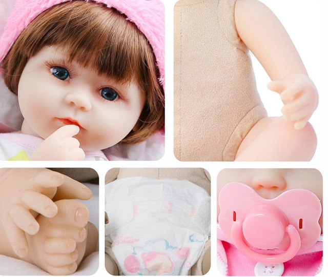 Boneca bebê Reborn Menina realista a pronta entrega 42 cm  - Foto 5