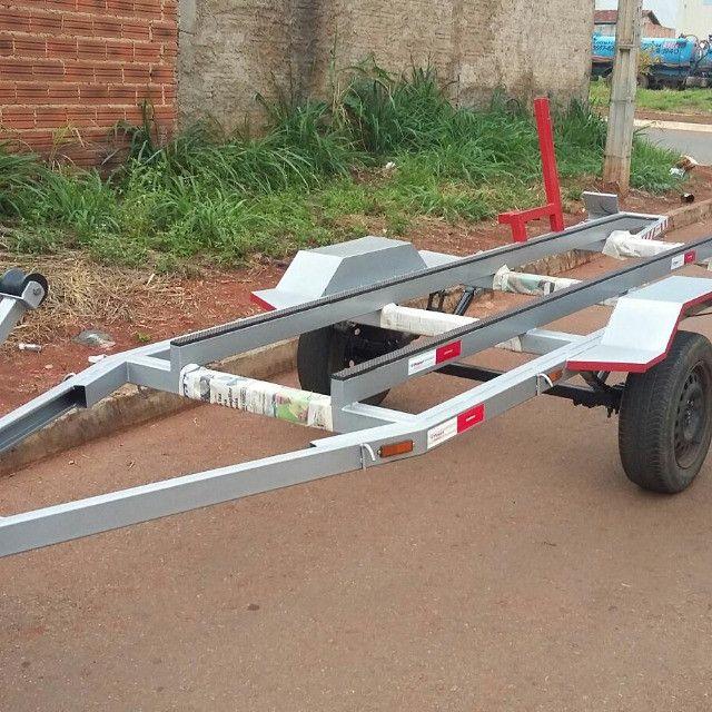 Carreta para canoa - Foto 3