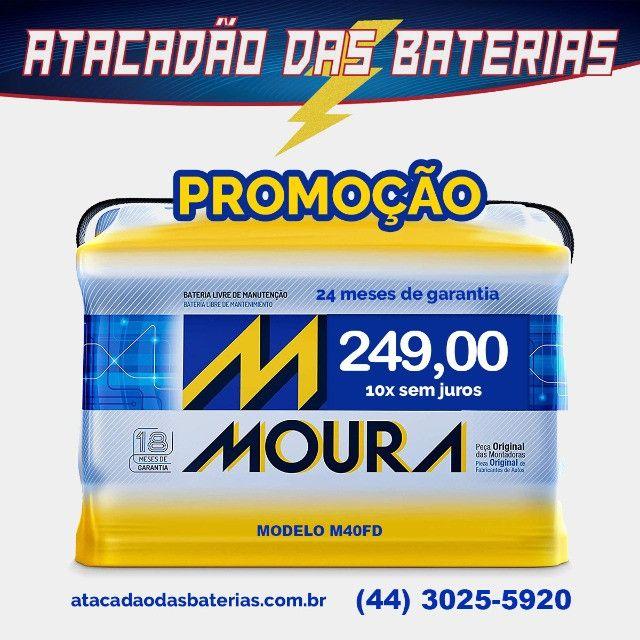 Bateria moura 24 meses garantia, a partir de R$249,00 10X sem juros