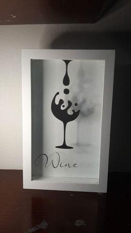 Quadros rolha de vinho
