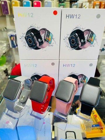 Relógio  Smartwatch inteligente  HW12 faz e recebe ligação versão atualizada