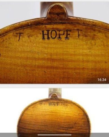 Violino antigo de autor Hopf  - Foto 4