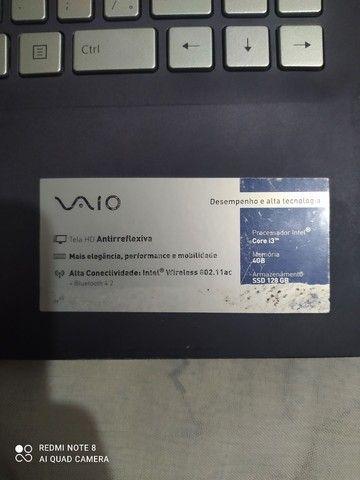 Notebook vaio c14 core i3, 128GB ssd e 4GB ram - Foto 3