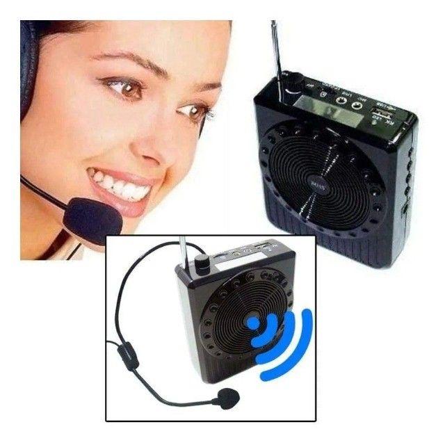 Megaphone Multifunções K150/ Rádio Fm / USB Player ? Entrega grátis - Foto 4