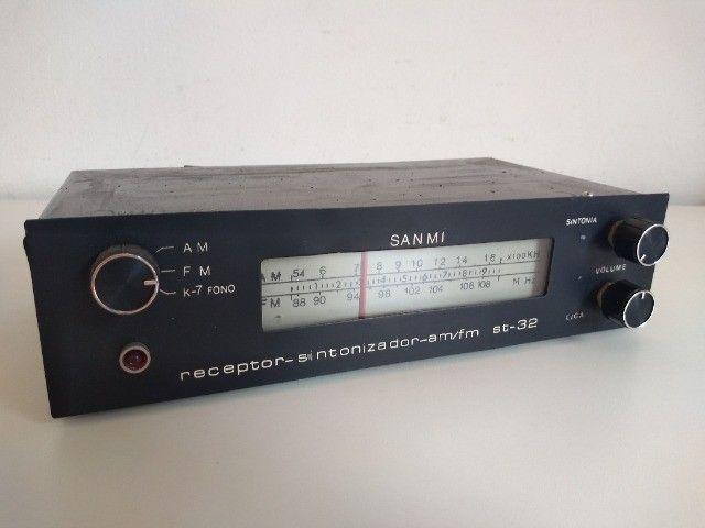 Sintonizador AM FM com receiver