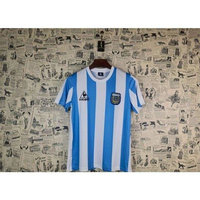 Camisa Retrô da Argentina 1986