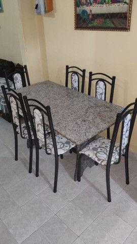 Mesa de Mamore com 6 cadeiras - Foto 5