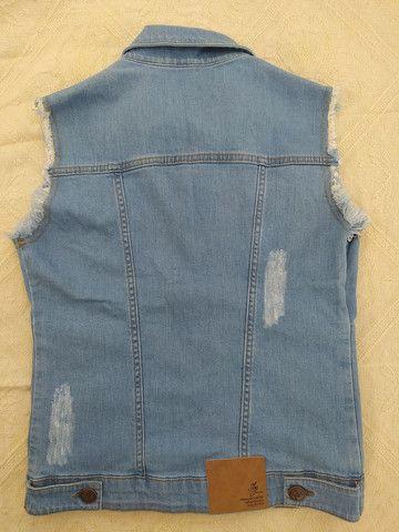 Colete jeans novo Sly - Foto 4