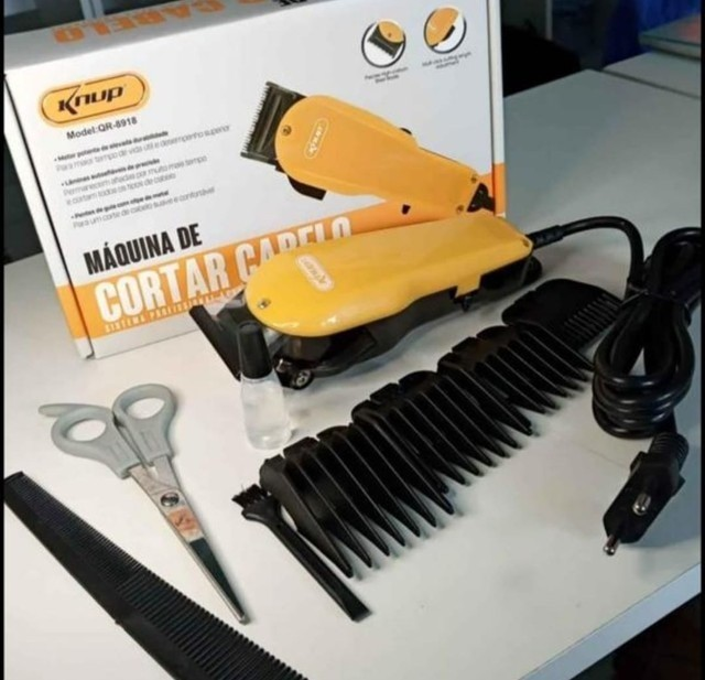 Máquina De Cortar Cabelo Profissional Com Fio Knup - Foto 2