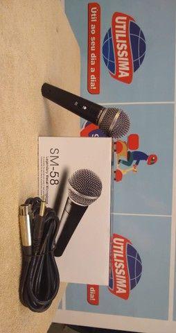 Microfone SM-58 com cabo ? Entrega Gratis  - Foto 5