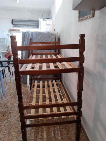 Beliches novas madeira maciça em promoção  - Foto 2