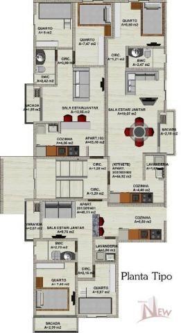 Apartamento 02 quartos no Afonso Pena, São José dos Pinhais - Foto 3