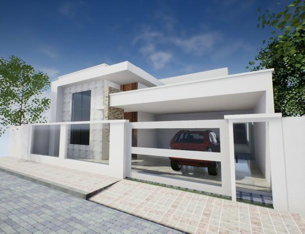 Casa nova 3suítes churrasqueira ofurô rua 10 Vicente Pires condomínio fechado - Foto 2
