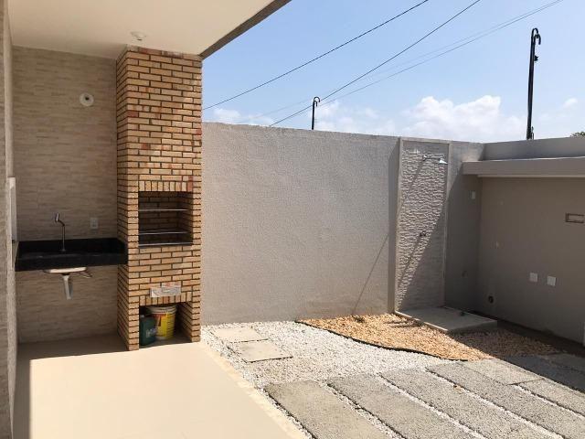 Casa Plana no Eusébio, 3 quartos, suítes, churrasqueira, excelente localização! - Foto 2