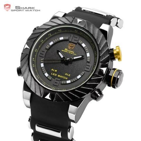 6556eb896c1 Relógio Shark Original Preto - Bijouterias