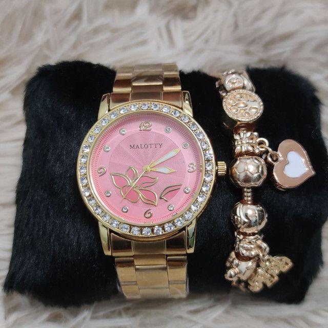 Relógio feminino original Malotty lindíssimo