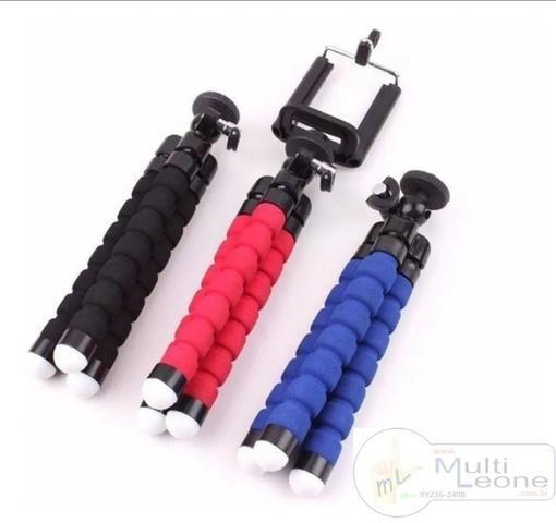 Mini Tripé Flexível + Suporte p/ Celular Gopro Câmera Universal - Foto 6