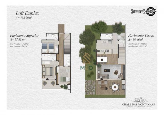 Loft com 3 dormitórios à venda, 138 m² por R$ 1.550.00 - Macapá - Guaramiranga/CE - Foto 6
