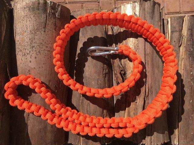 Guias e coleiras de corda artesanal - Foto 2
