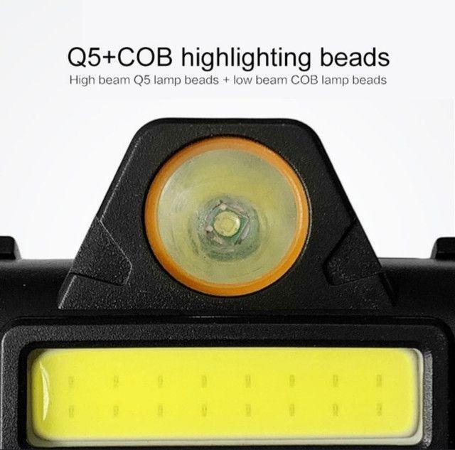 Lanterna de Cabeça recarregável - Luz LED aberta e Longa Distância a prova d água<br> - Foto 2