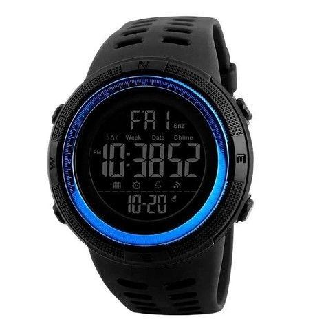 Relógio Masculino Skmei 1251 Preto/Azul 5ATM Original - Foto 2