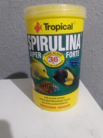 Ração Para Peixes Tropical Super Spirulina Forte Flakes 200g