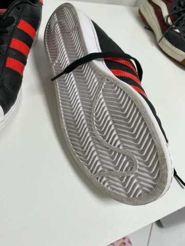 Tênis Adidas Superstar (Vermelho e Preto) Original  - Foto 2