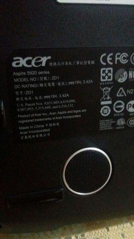 Notebook Acer 5920 para conserto ou retirada de peças  - Foto 2