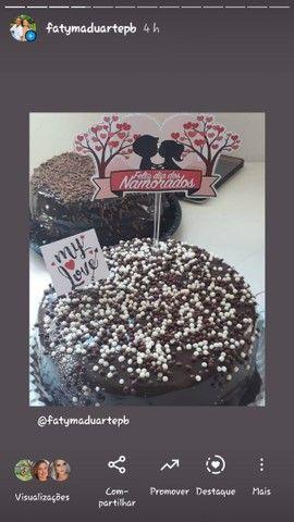 kit com bolo vulcão para o dia dos Namorados - Foto 3