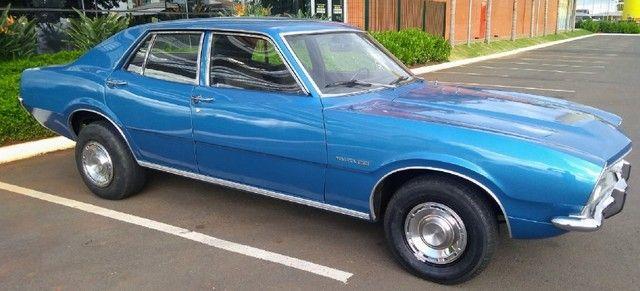 Ford Maverick 4 Portas Azul 1975 Original, 3º Dono, Raridade