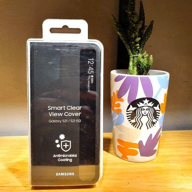 Capa protetora Samsung Galaxy S21 - Smart Clear View - Preta
