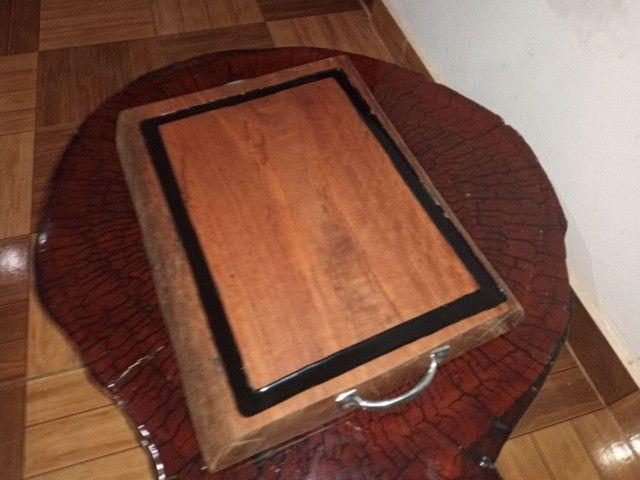 Vendo tábuas de carne rústicas madeira sucupira branca - Foto 5