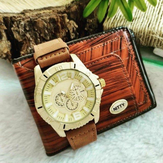 Relógio masculino com carteira - Foto 3