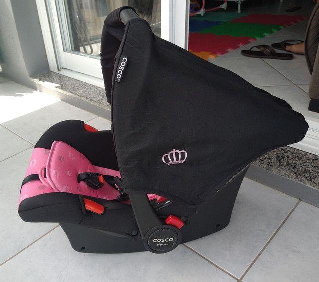 Bebê conforto cosco Nexus rosa coroa - Foto 3