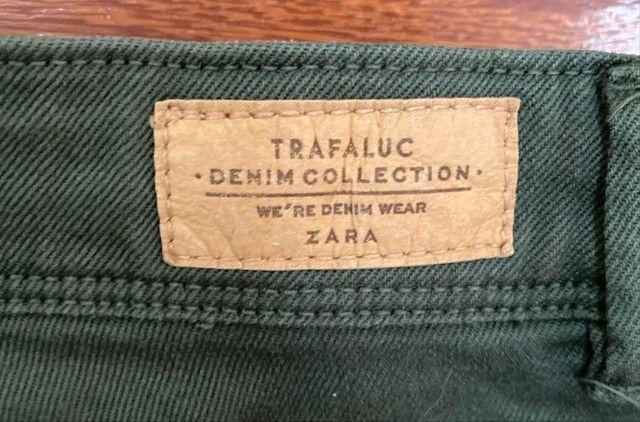 calça verde militar zara - Foto 2