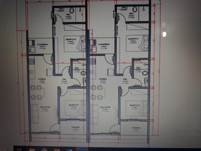 Apenas uma Casa 56 m2 - Guarujá - em construção