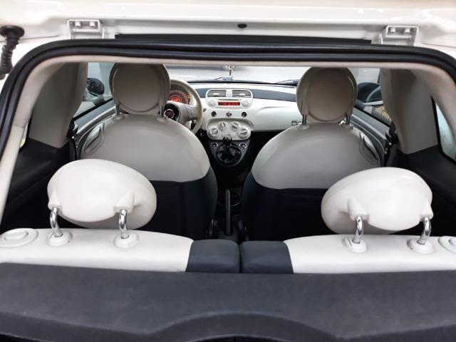 Fiat 500 Perola!! Financio Sem Ent. nao ka c3 onix 208 kwid up hb20 cooper mobi uno gol - Foto 15