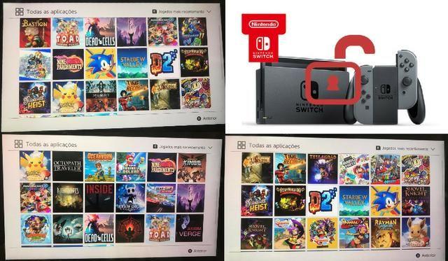 Nintendo Switch com destrave - desbloqueado - tenha todos os jogos que sempre quis - op12x