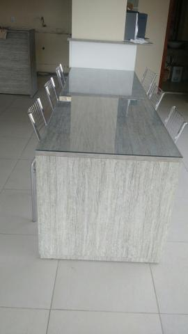 Mesa MDF com vidro - Foto 3