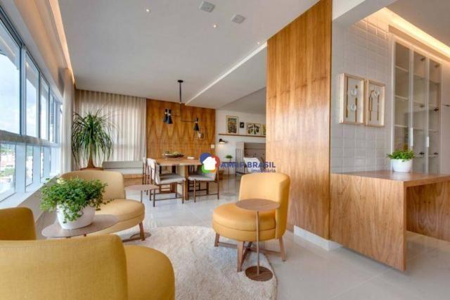 Apartamento com 3 dormitórios à venda, 178 m² por r$ 1.115.500,00 - setor marista - goiâni