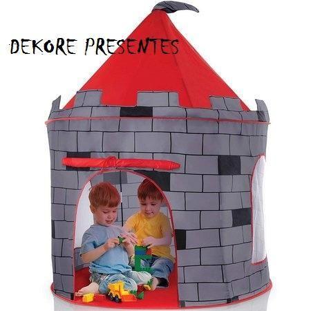 Barraca Toca Infantil Castelo Torre Dobravel Brinquedo - Foto 2